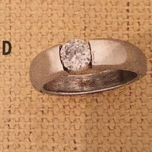 R1079 Silpada Sterling Silver & CZ Solitaire Ring